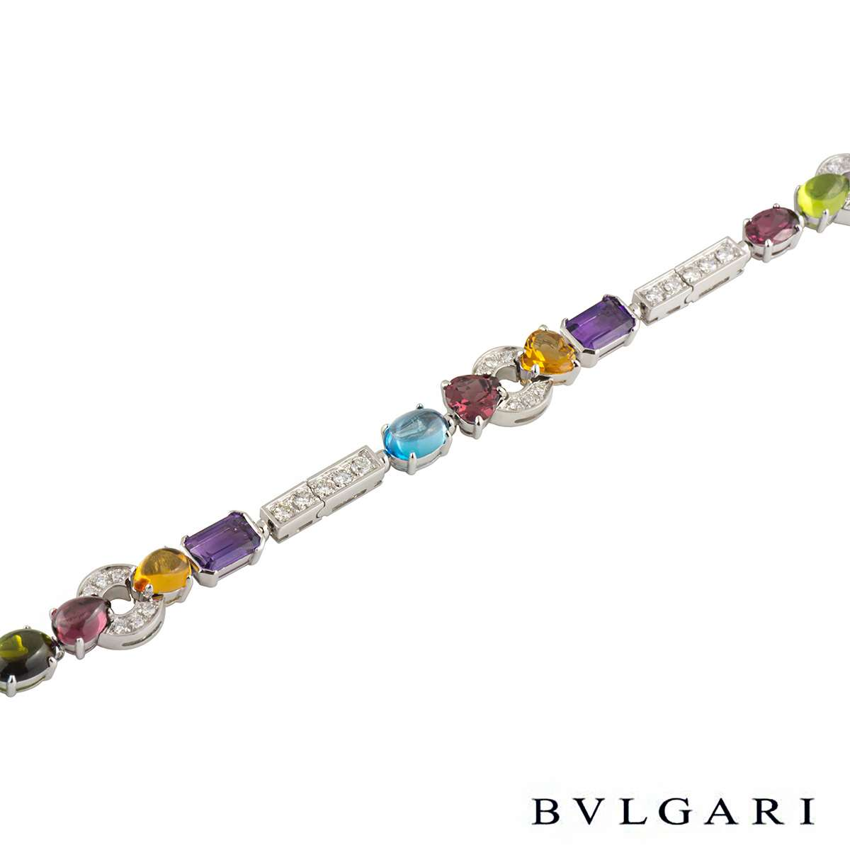 silver pin petite gemstone oval multicolor multi sterling in bracelet